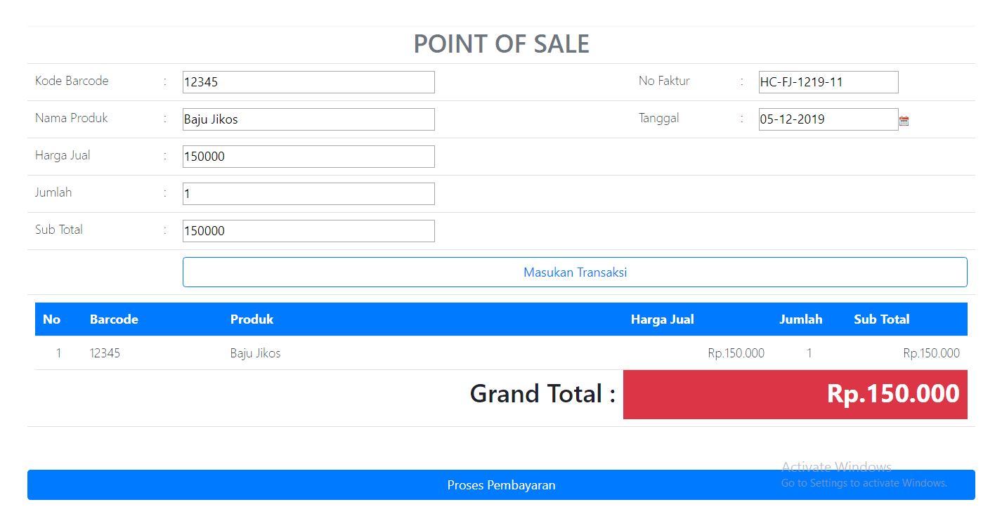 New Point of sale apps