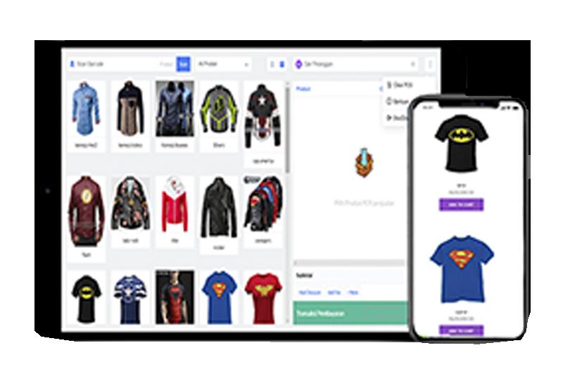online shop pos app
