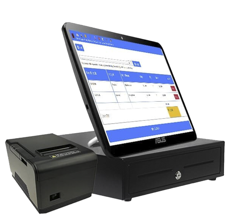 Mesin Kasir Touchscreen layar sentuh all in one pos